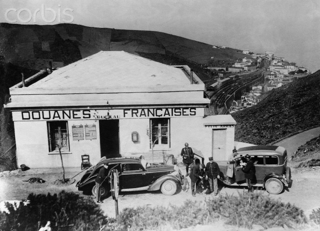 French Border Post During Spanish Civil War